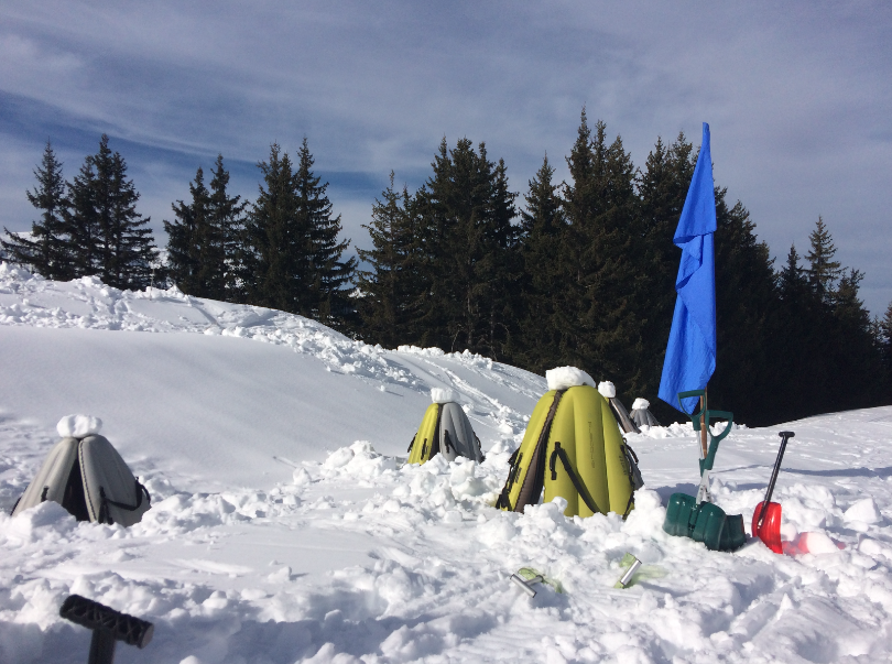 Team building, igloo, airboard, neige, montagne